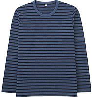 Мужская хлопковая синяя кофта в полоску Uniqlo (Размер - XL)