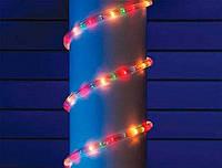 """Уличная Герметичная Светодиодная гирлянда Дюралайт """"Rope Light"""" 10 метров Цветная Мульти, 180 LED прозрачный с"""