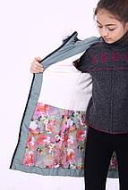 """Детская зимняя курточка для девочки """"Кайли"""" с мехом (светлые), размеры: 34-40., фото 3"""