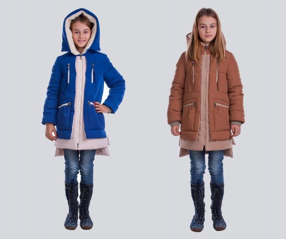 Зимняя модная парка Алиса на девочку 128-158 р разные цвета