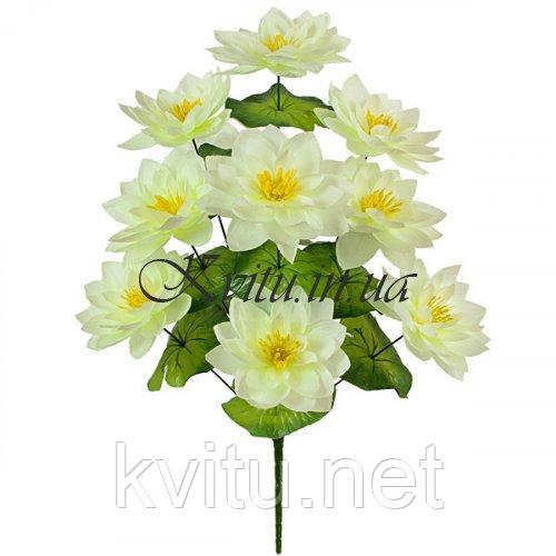 Искусственные цветы букет лотоса, 57см