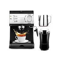 DL-KF6001 Полуавтоматическая кофеварка Barista Espresso Machine Пароход для молока - 1TopShop