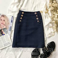 Качественная юбка из костюмной ткани  KI1946003