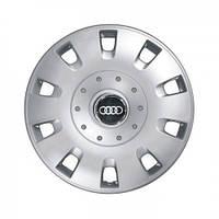 """Колпаки для колес 15"""" c логотипом автомобиля 4 шт (SKS 304) Ауди"""