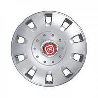 "Колпаки для колес 15"" c логотипом автомобиля 4 шт (SKS 304) Fiat"