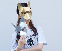 Маска Лиса papercraft