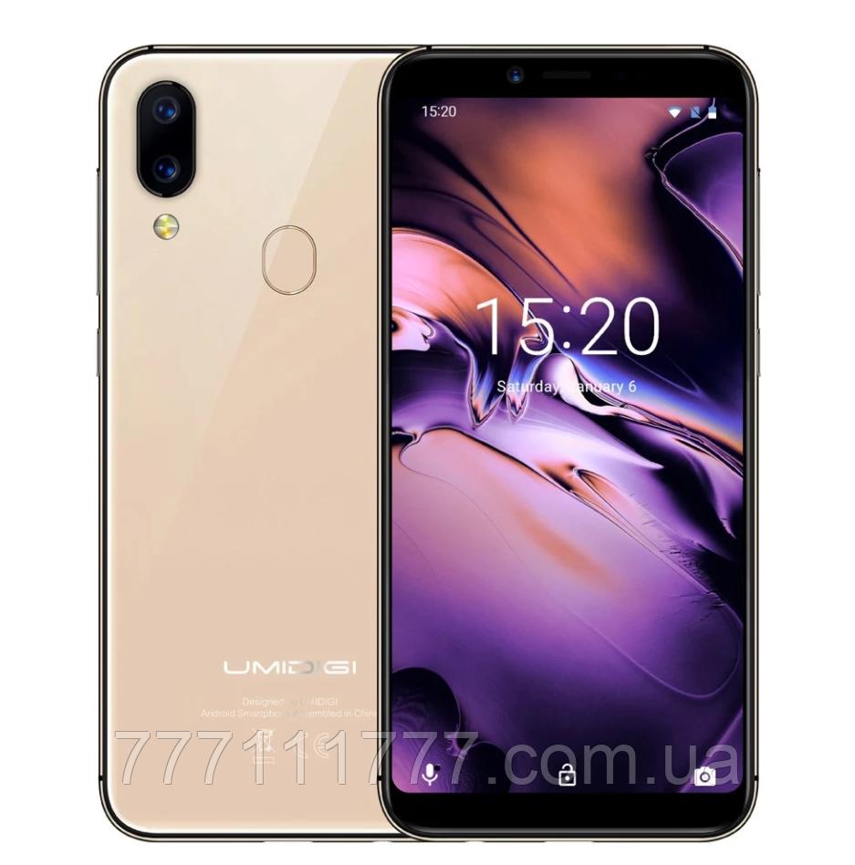 """Смартфон UMI Umidigi A3 gold золото (2SIM) 5,5"""" 2/16ГБ 8/12+5Мп 3G 4G оригинал Гарантия!"""
