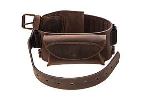 Патронташ поясной с карманом из кожи для карабина Artipel кал. 243-300WM