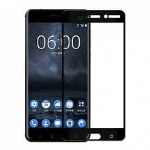 Защитное стекло MakeFuture Full cover для Nokia 6 черный