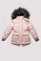 Куртка парка зимняя для девочки розовая