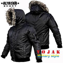 """Куртка зимняя аляска """"ALYSKA SHORT"""" BLACK"""