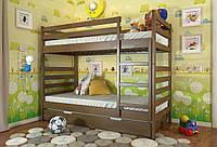 Кровать детская Arbor Drev Рио сосна двухъярусная 90х200, Орех