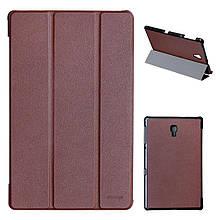 Чехол книжка кожаный Grand-X для Samsung Tab A 10.5 T590 T595 коричневый