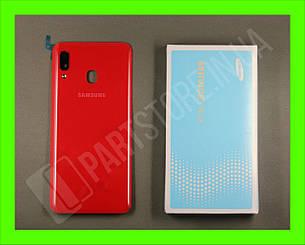 Cервисная оригинальная задняя Крышка Samsung A205 Red A20 2019 (GH82-19423D), фото 2