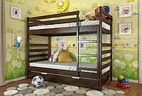 Кровать детская Arbor Drev Рио бук двухъярусная 80х190, Темный орех