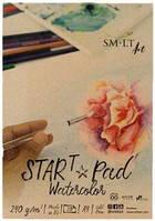Склейка для акварели STAR T А4, 240г/м2, 20л, натуральный белый, SMILTAINIS