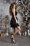 Обворожительное люриксовое черное женское платье с бахрамой42,44,46р., фото 3