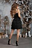 Обворожительное люриксовое черное женское платье с бахрамой42,44,46р., фото 4