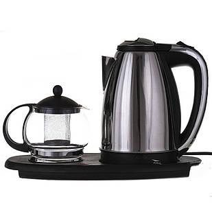 Электрочайник A-PLUS 1.8 л на подставке + чайник заварник 500 мл