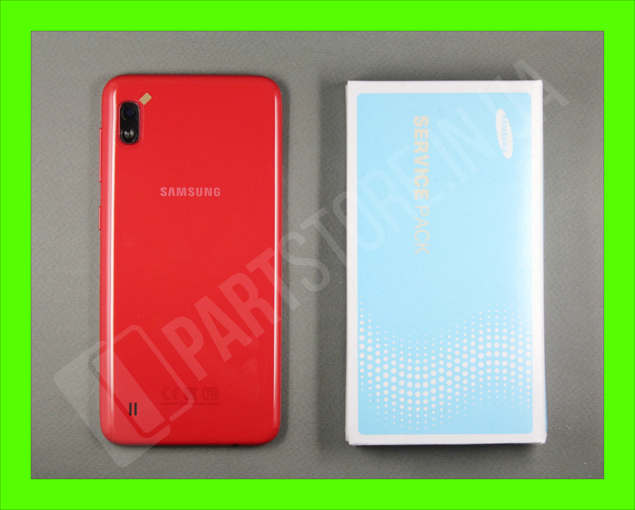 Cервисная оригинальная задняя Крышка Samsung A105 Red  A10 2019 (GH82-19506D)