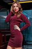 Трикотажне плаття міні з люрексом (3 кольори, р S,M,L,XL), фото 9