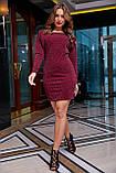 Трикотажне плаття міні з люрексом (3 кольори, р S,M,L,XL), фото 10