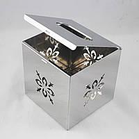 Cube Квадратный Контейнер Chrome Tissue Коробка Крышка для салфеток для домашнего офиса Декор из нержавеющей стали - 1TopShop