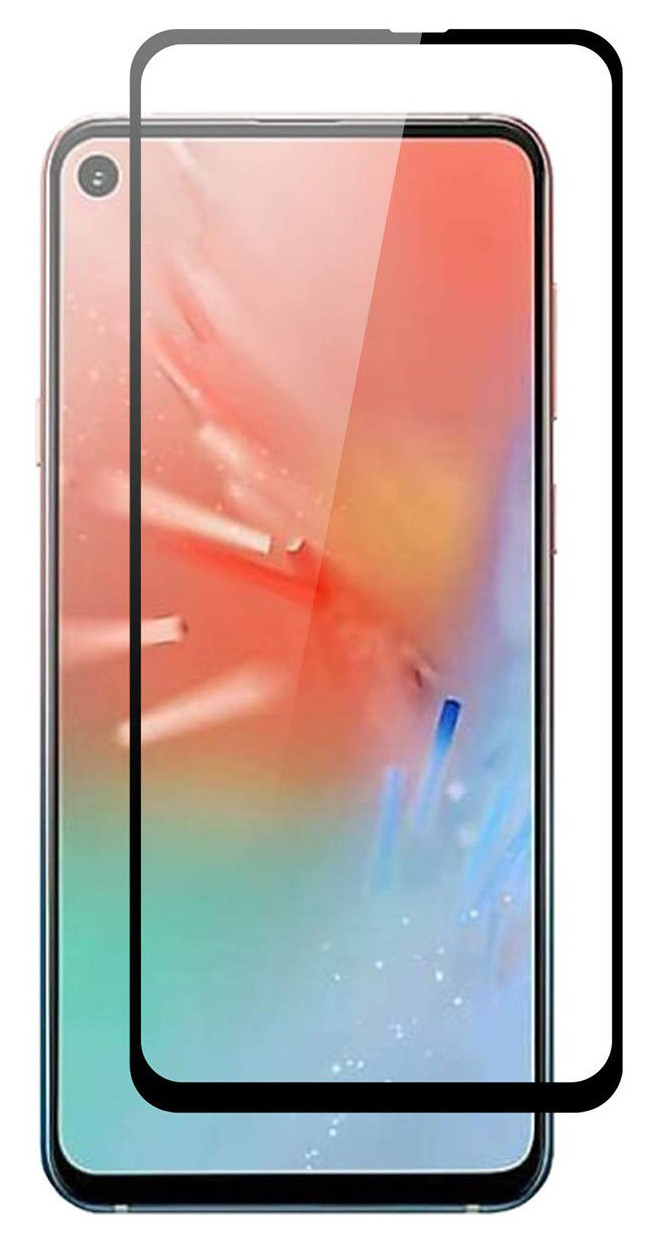 Защитное стекло NZY для Samsung Galaxy A60 / M40 5D Premium Full Glue Черные рамки (001573)