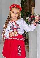 Вишитий костюм для дівчинки Трояндочки блузка та спідниця