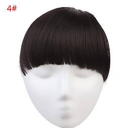Накладная челка из искуственый волос. Цвет #04 Темно-коричневый