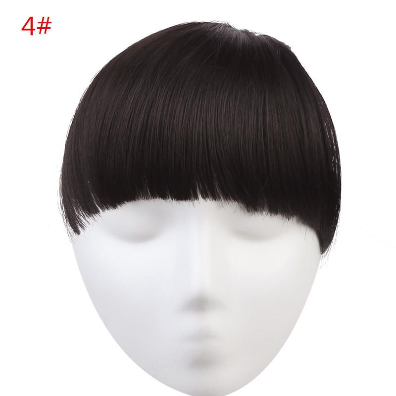 Накладная челка из искуственый волос. Цвет #04 Темно-коричневый, фото 1