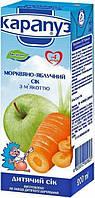 Детский сок яблоко морковь 200мл Карапуз