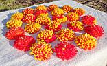 """Восковая свеча """"Хризантема"""" из пчелиного воска, фото 8"""