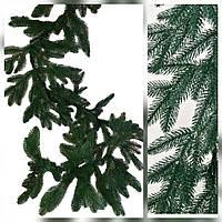 Хвойная гирлянда литая зеленая