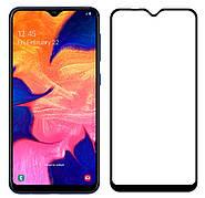 Захисне скло NZY для Samsung Galaxy A10 Full Glue 5D Чорні рамки (001542)