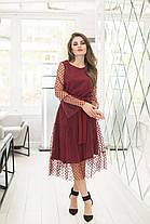 Платье миди в расцветках 36420, фото 2