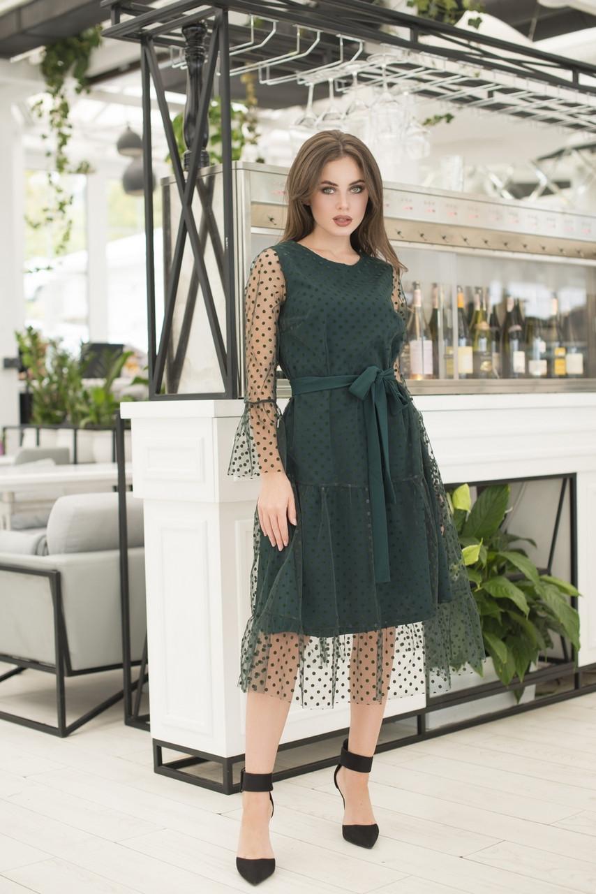 Платье миди в расцветках 36420