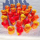 """Восковая свеча """"Бутон коралловой розы"""" из пчелиного воска, фото 4"""