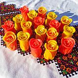"""Восковая свеча """"Бутон коралловой розы"""" из пчелиного воска, фото 3"""