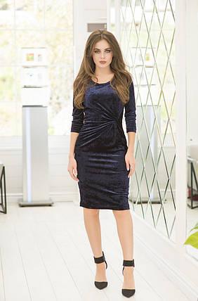 Сукня оксамит в кольорах 36421, фото 2