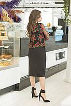 Платье верх вышивка в расцветках 36422, фото 3