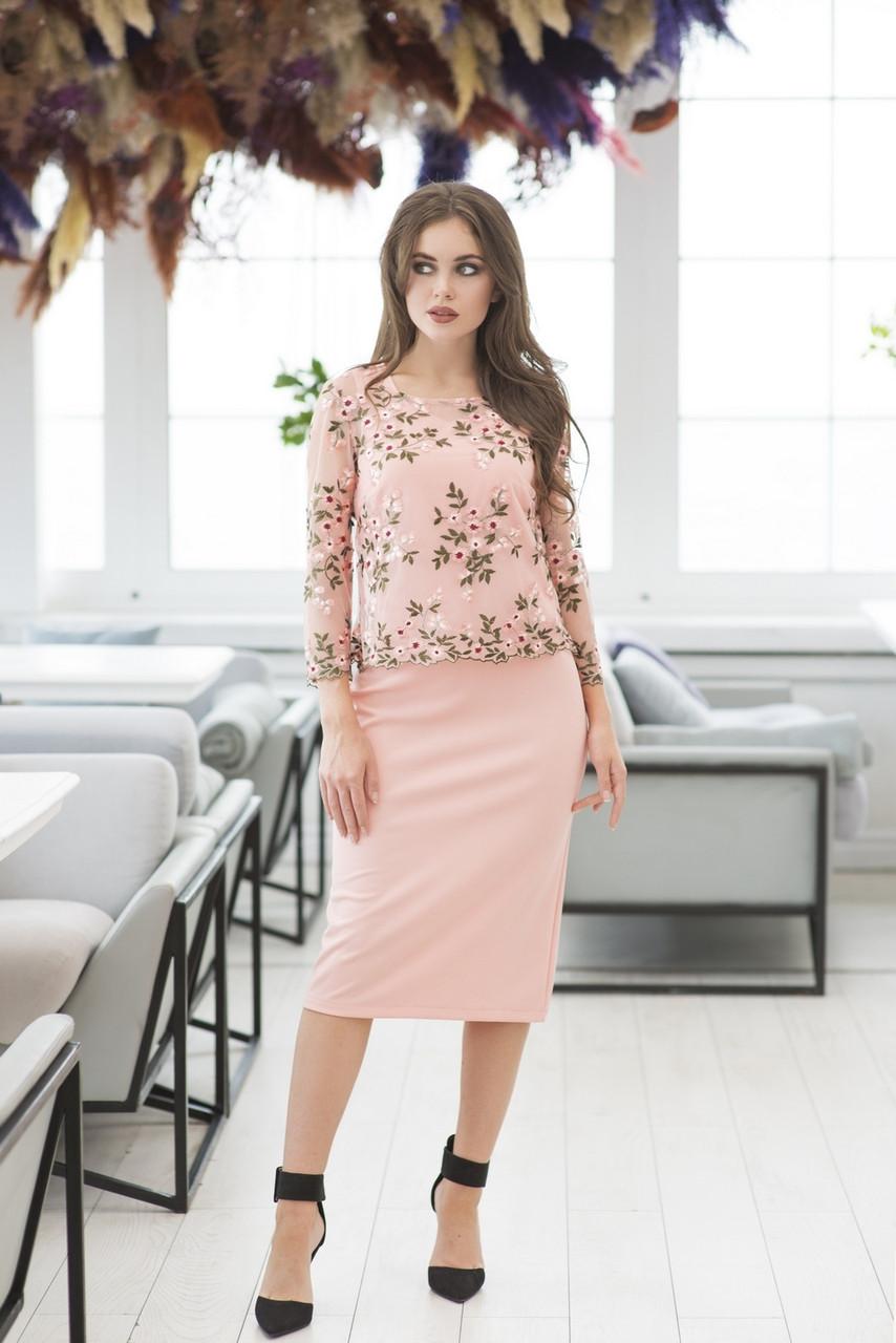 Верх плаття вишивка в кольорах 36422