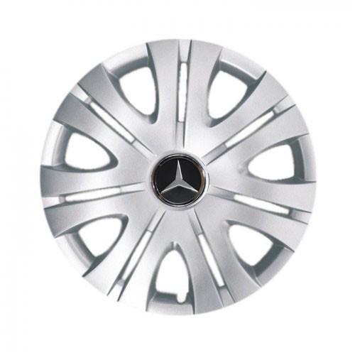 """Колпаки для колес 15"""" c логотипом автомобиля 4 шт (SKS 317) Мерседес"""