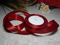 Лента атласная 2,5 см темно-красная