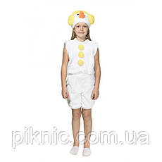 Костюм Снеговик 4,5,6,7 лет Детский новогодний карнавальный Снеговичок для детей Желтый, фото 2