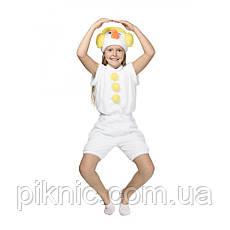 Костюм Снеговик 4,5,6,7 лет Детский новогодний карнавальный Снеговичок для детей Желтый, фото 3