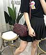 Сумка в форме коробочки с украшением / натуральная кожа арт. кт-954 Бордовый, фото 6