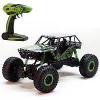Игрушка для мальчика Машина Джип  радиоуправляемый аккум. зеленый  Rock Crawle полный привод  HB-P1003
