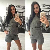 Костюм женский пиджак с шортами