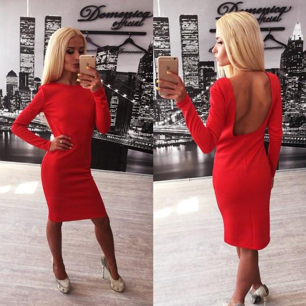 19b29810596 Красное платье с открытой спиной